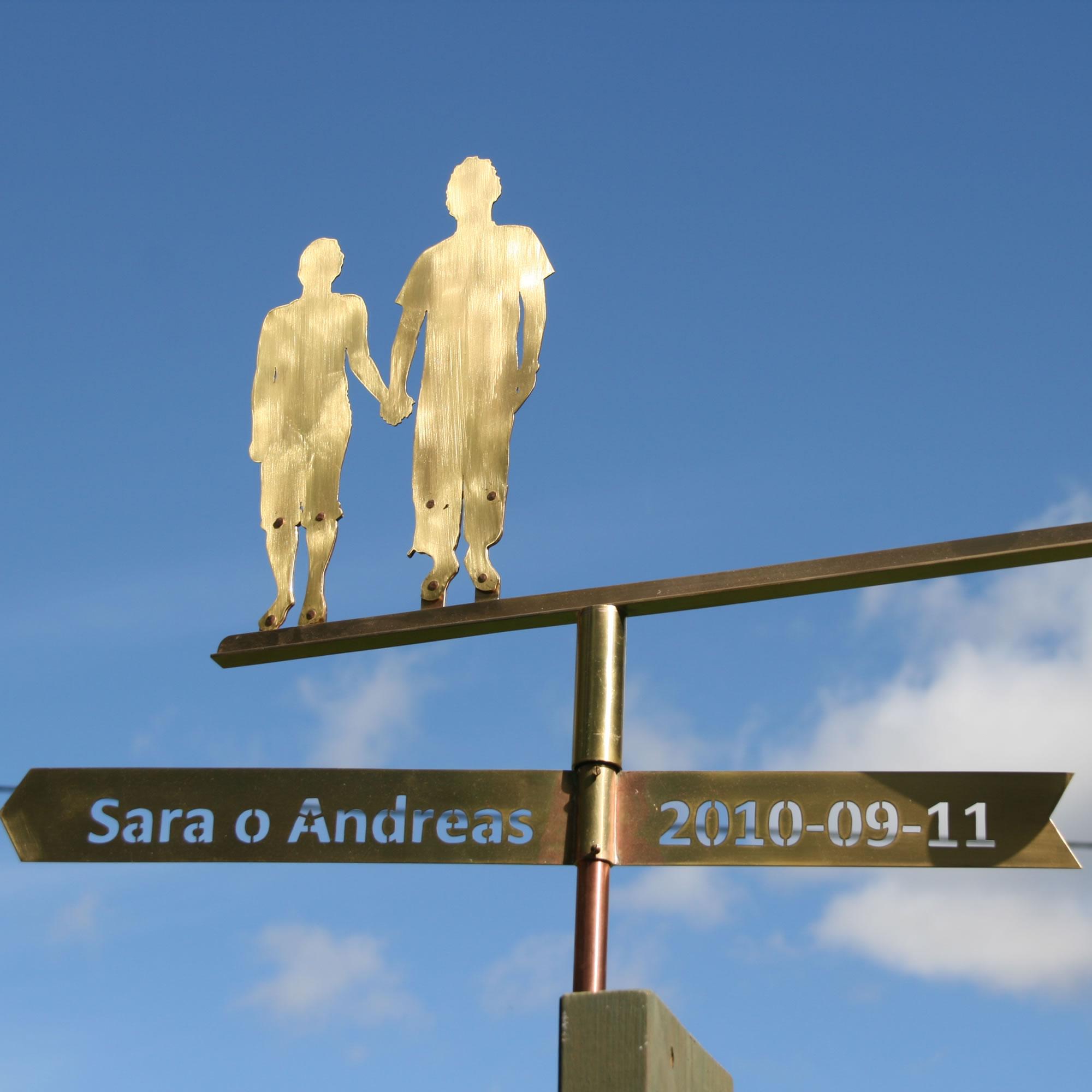 Vindflöjel Sara o Andreas